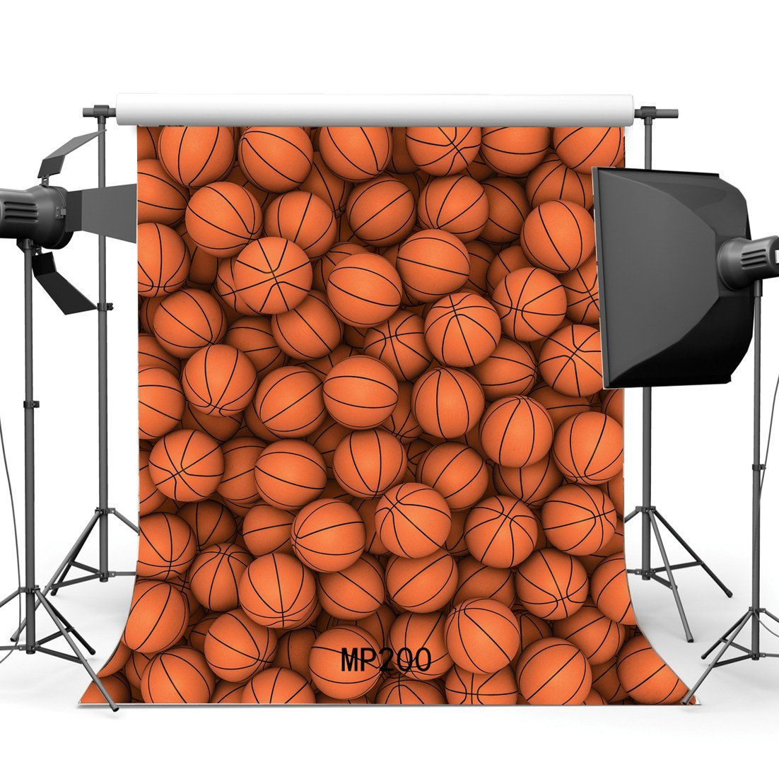 HelloDecor Polyster 5x7ft Basketball Backdrop Sports Game School Match Photography Background Boys Children Happy Birthday Party Decoration Wallpaper Photo Studio Props