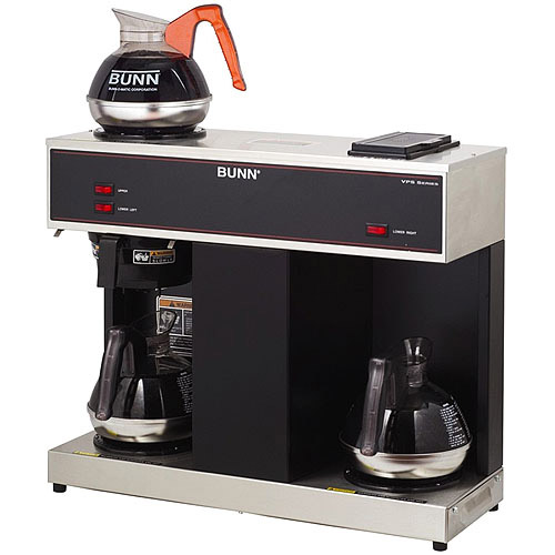 BUNN VPS 12-Cup Commercial Coffee Brewer, 3 Warmers, 4275.0031