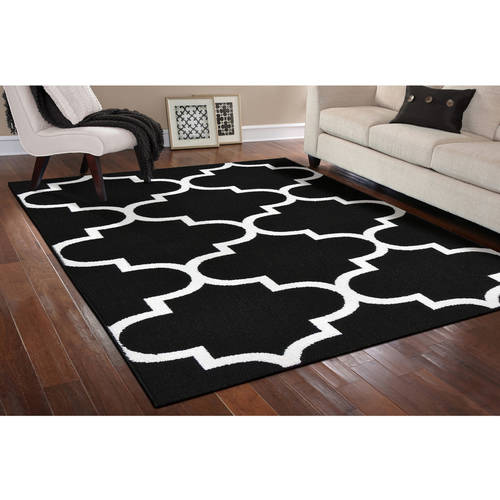 Simply Urban Collection Large Quatrefoil Area Rug by Garland Rug