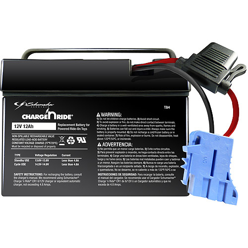 Schumacher Electric 12V 12AH Battery Assembly with Assembly Handle