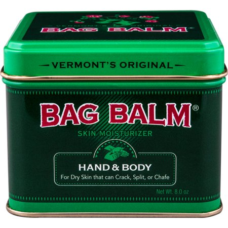Vermont's Original Bag Balm Skin Moisturizer for Hand & Body, 8 Oz (Best Moisturizer For Dry Cracked Hands)