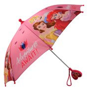Disney Little Girl's Assorted Character Rainwear Umbrella Accessory, Pink, Age 3-7