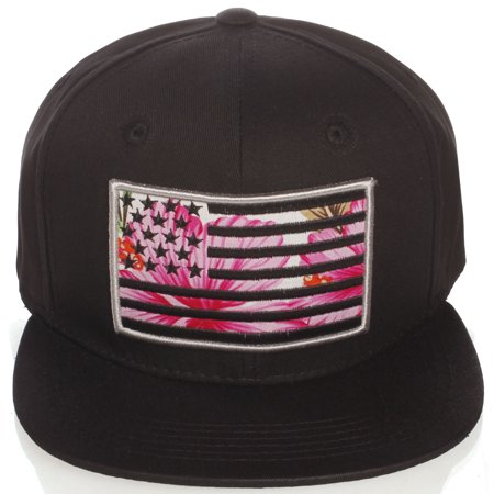 US Cities - US Cities USA American Flag Print Flat Bill Adjustable Snapback  Hat Cap - - Walmart.com 4afb2f4246c