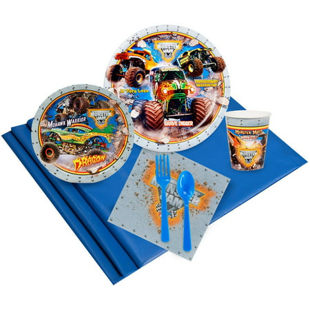Monster Jam 3D Party Pack for 16 (Monster Jam Birthday Party Supplies)