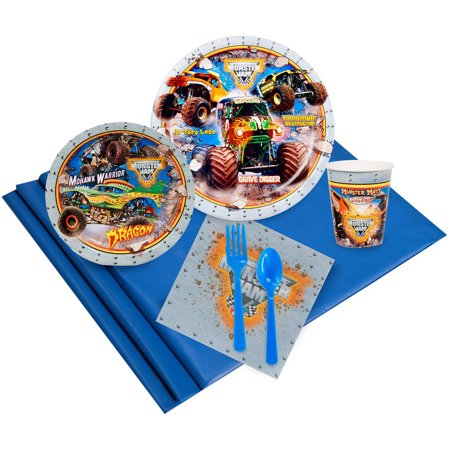 Monster Jam 3D Party Pack for 16 - Monster High Party Set