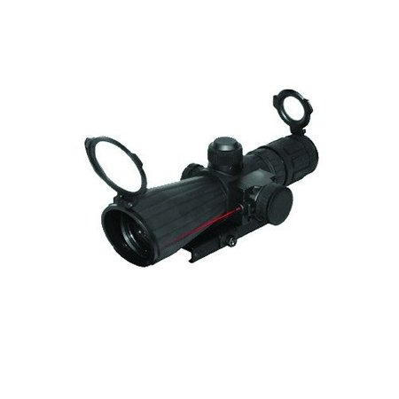 NcStar Paintball Armored 4x32 Mark III Mildot Scope w/ Red Laser