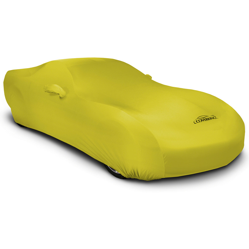 CUSTOM VEHICLE COVER SATIN STRETCH YELLOW CLASS 6 FOR FORD 1