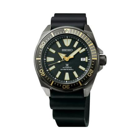 Black Silicone Strap Watch - Prospex Black Ion Automatic Dive Watch with Black Silicone Strap 200 m SRPB55