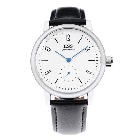 ESS Minimal Simple Mechanical Automatic Bauhaus Watch Germany Style Blue