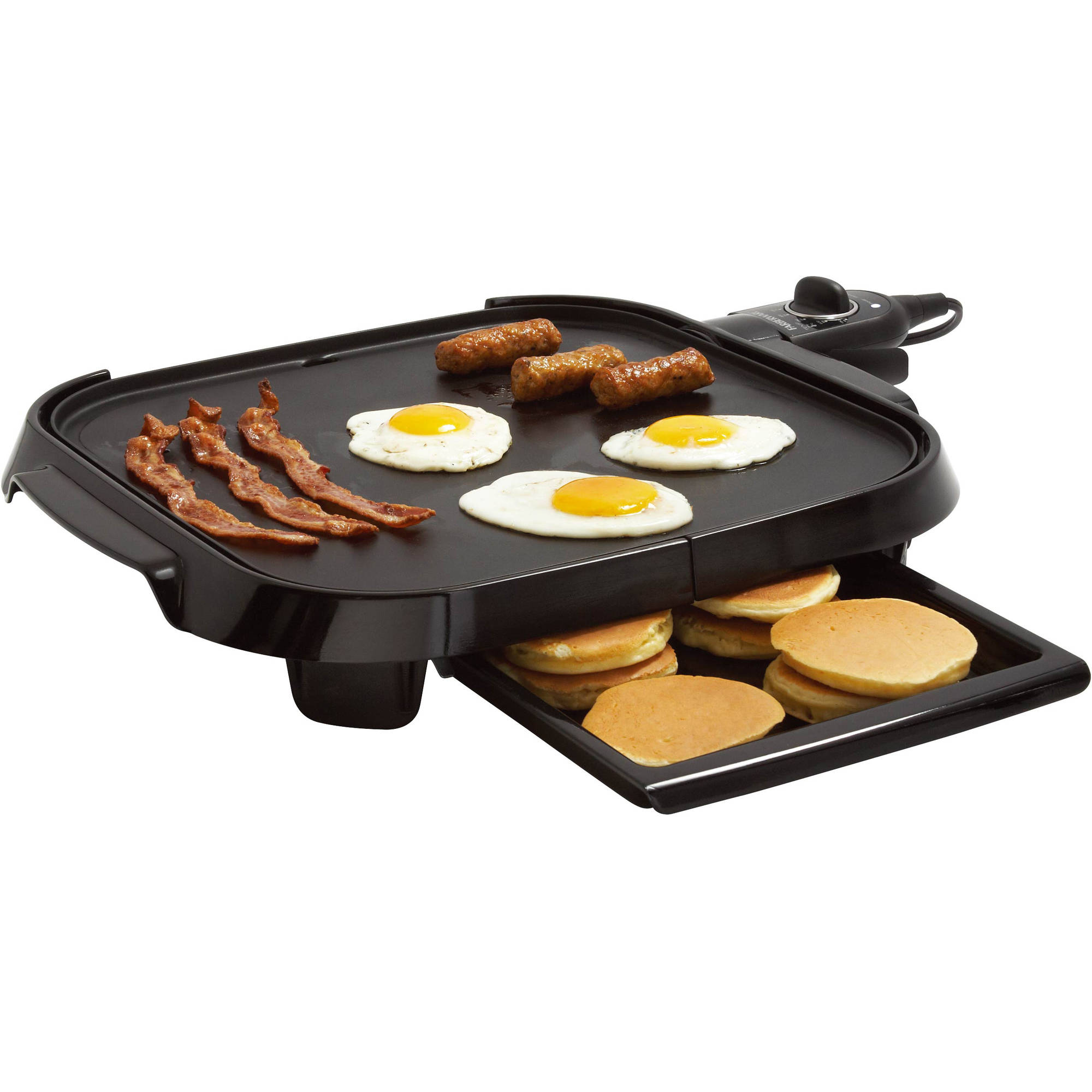 "Faberware Family-Size 14"" x 14"" Griddle, Black"