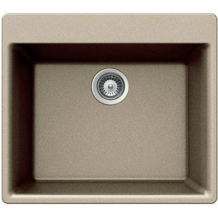 Houzer G-100 Taupe Quartztone Series Top-Mount Single-Bowl Granite Kitchen Sink (Kindred Granite Sink)