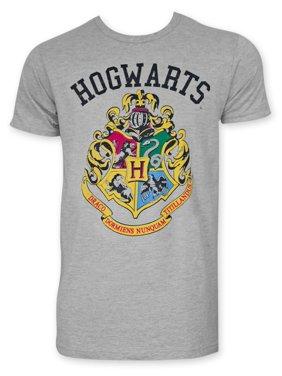 30228b0d Product Image Harry Potter Hogwarts Insignia Men's Grey Tee Shirt