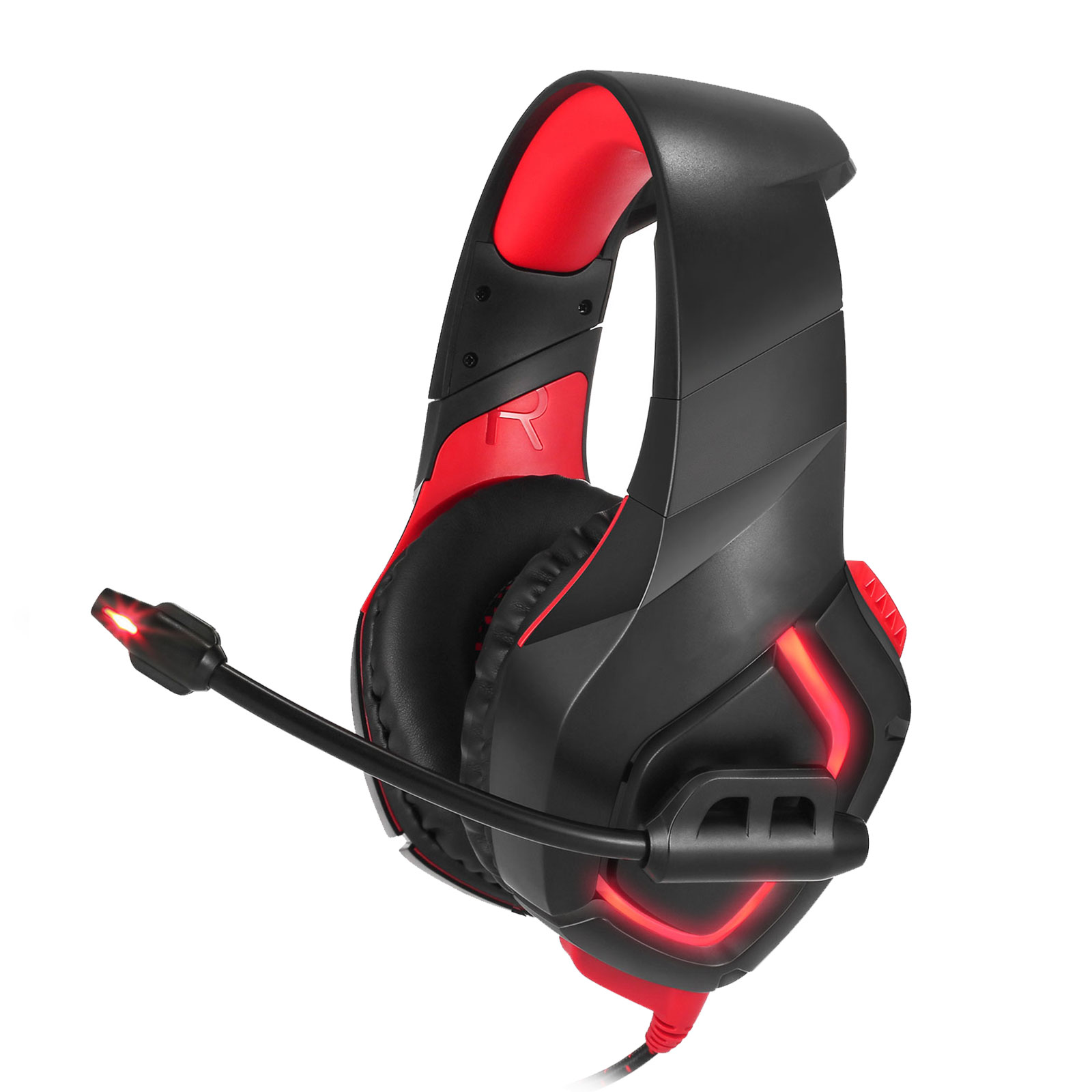TSV K1-Pro Stereo Bass Surround Headphone 3.5mm Wired Gaming Headset with Noise Reduction Mircophone for PS4 Xbox One Switch Computer Laptop