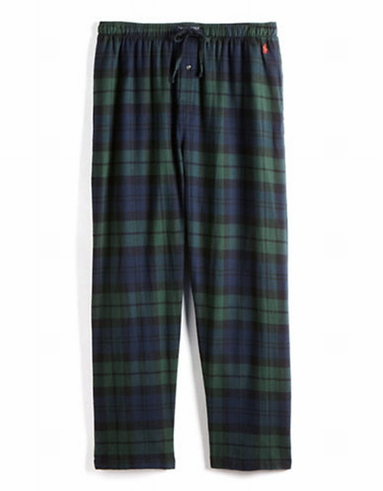 Polo Ralph Lauren P657 Flannel Pajama Pant (Blackwatch Tartan S)