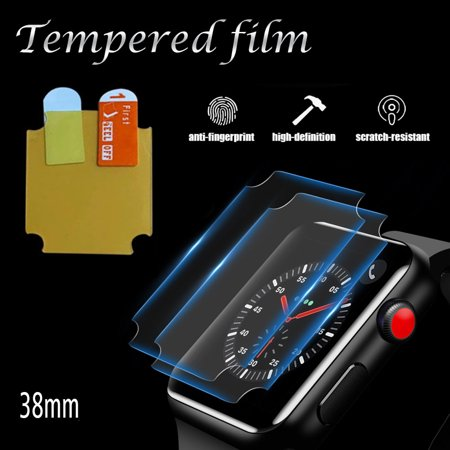 Watch Protective Film Sensitive Touching Waterproof Comfortable Watch Tempered Film Protector for Apple iWatch 38MM - image 2 de 7