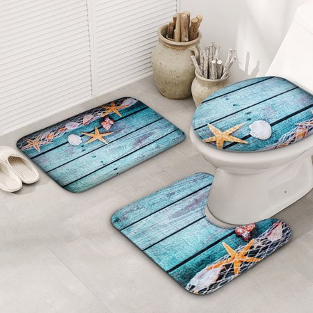 Name: Set 3 Pcs Toilet MatsSize:Square pad 44 * 75cmU-type pad 44 * 39cmToilet cover 38 * 40cmMaterial: Flannel + sponge + PVC non-slip endWeight: about 400gApply to: bathroom, toiletFeatures: - image 2 of 4