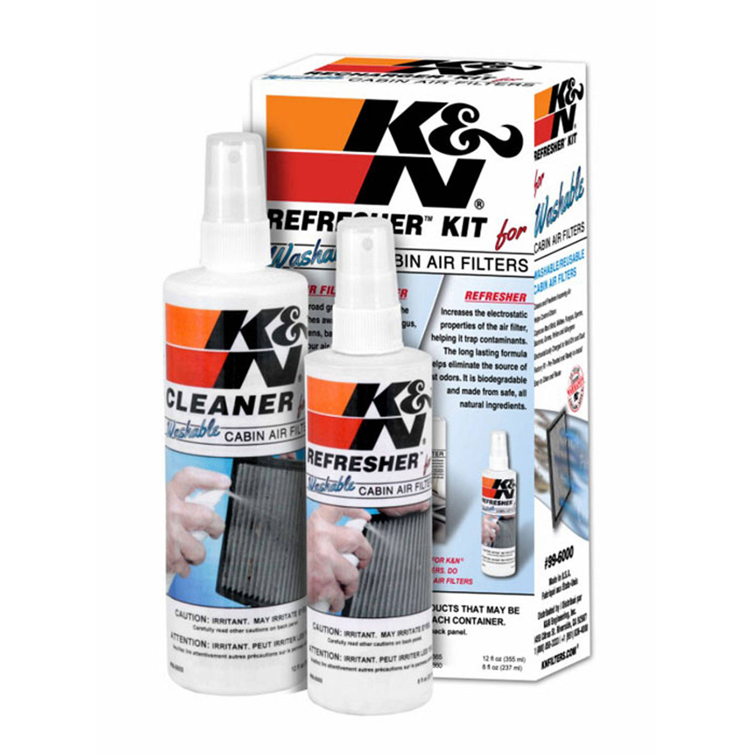 K&N Cabin Filter Cleaning Care Kit, #99-6000