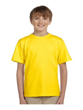 Fruit of the Loom Boys 4-12 Ribbed Collar Half-Sleeve T-Shirt