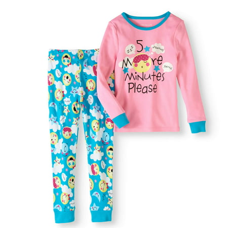 Girls Pajamas Size 7 (Girl's 5 More Minutes 2 Piece Pajama Sleep Set (Big Girls & Little)