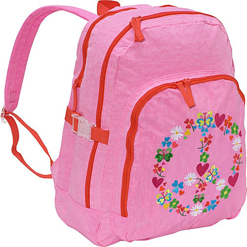 Miquelrius Agatha Ruiz de la Prada Peace & Love Large Pink Backpack