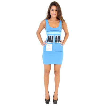 Doctor Who & The Dalek Tardis Juniors Blue Tank Dress