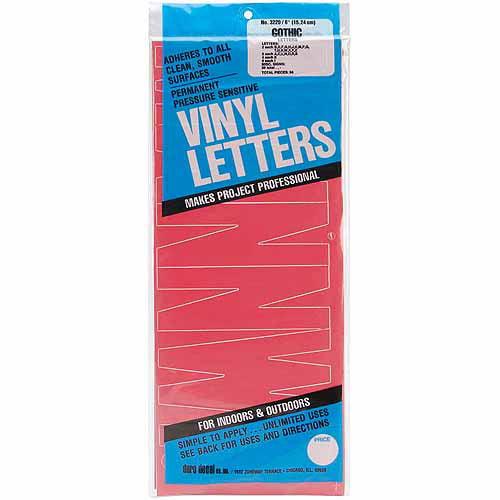 "Permanent Adhesive 6"" Vinyl Letters"