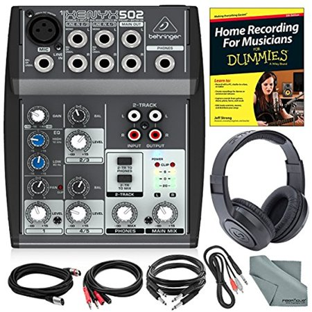 behringer xenyx 502 5 channel audio mixer and platinum bundle w stereo headphones home. Black Bedroom Furniture Sets. Home Design Ideas