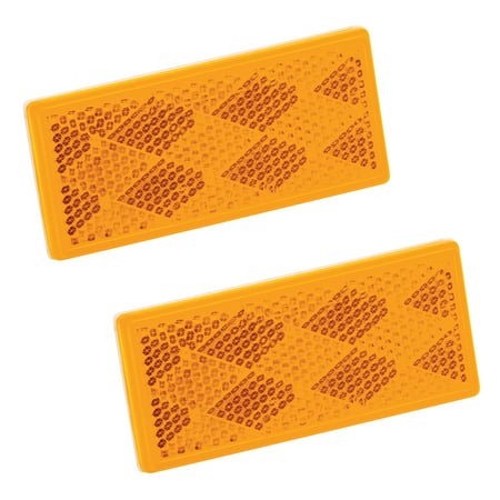 Rectangular Amber Ring - Bargman 74-71-181 Rectangular Adhesive Reflector - Amber, 3-1/4
