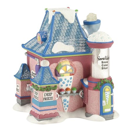 Department 56 North Pole Series Village Snowflake's Snow Cone Ornament Lit House, 5.5-Inch 56 North Pole Series