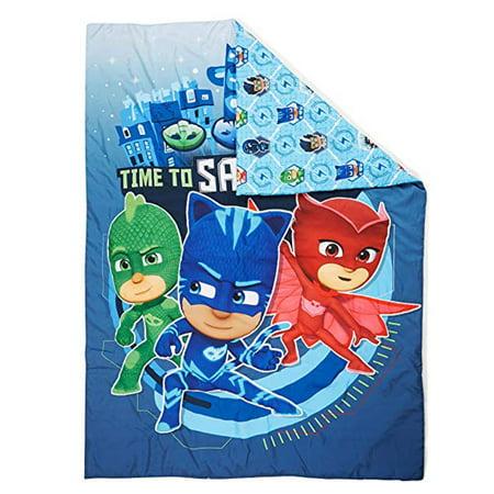 Disney Junior PJ Masks Toddler Bedding Comforter Soft Reversible Blue