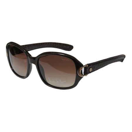 New Nicole Miller Trinity Womens/Ladies Designer Full-Rim 100% UVA & UVB Brown / Matte Gold Contemporary Runway Fashion Shades Sunnies Frame Gradient Brown Lenses 56-17-130 Sunglasses/Eyewear ()