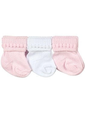 Jefferies Socks Baby Girls Classic Cotton Stay-On Booties, 6-Pack