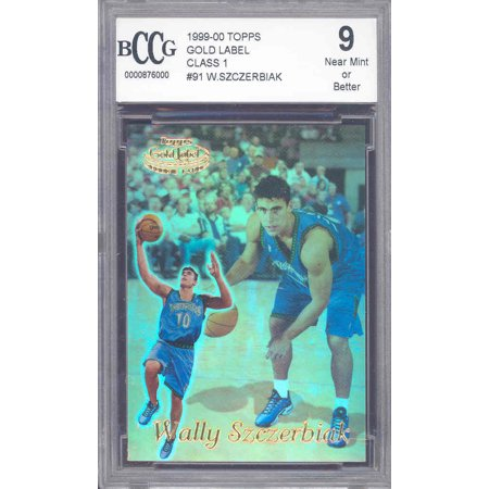- 1999-00 topps gold label #91 WALLY SZCZERBIAK rookie BGS BCCG 9
