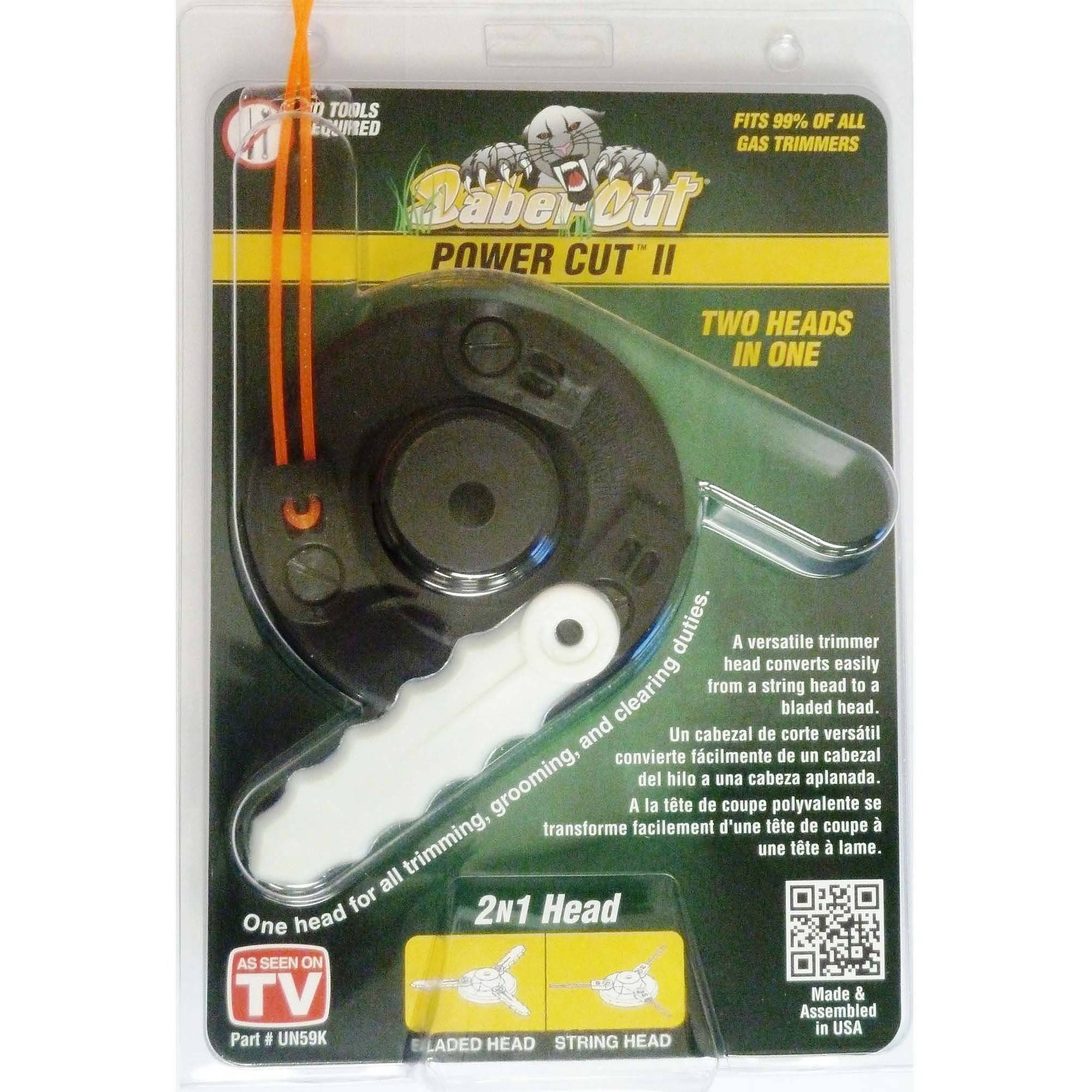 SaberCut UN-59K POWER CUT II 2-in-1 String Trimmer Head, Black