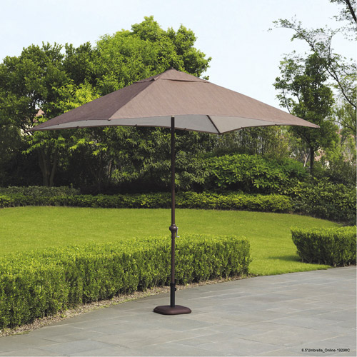 Mainstays Sand Dune 9' Rectangular Market Umbrella