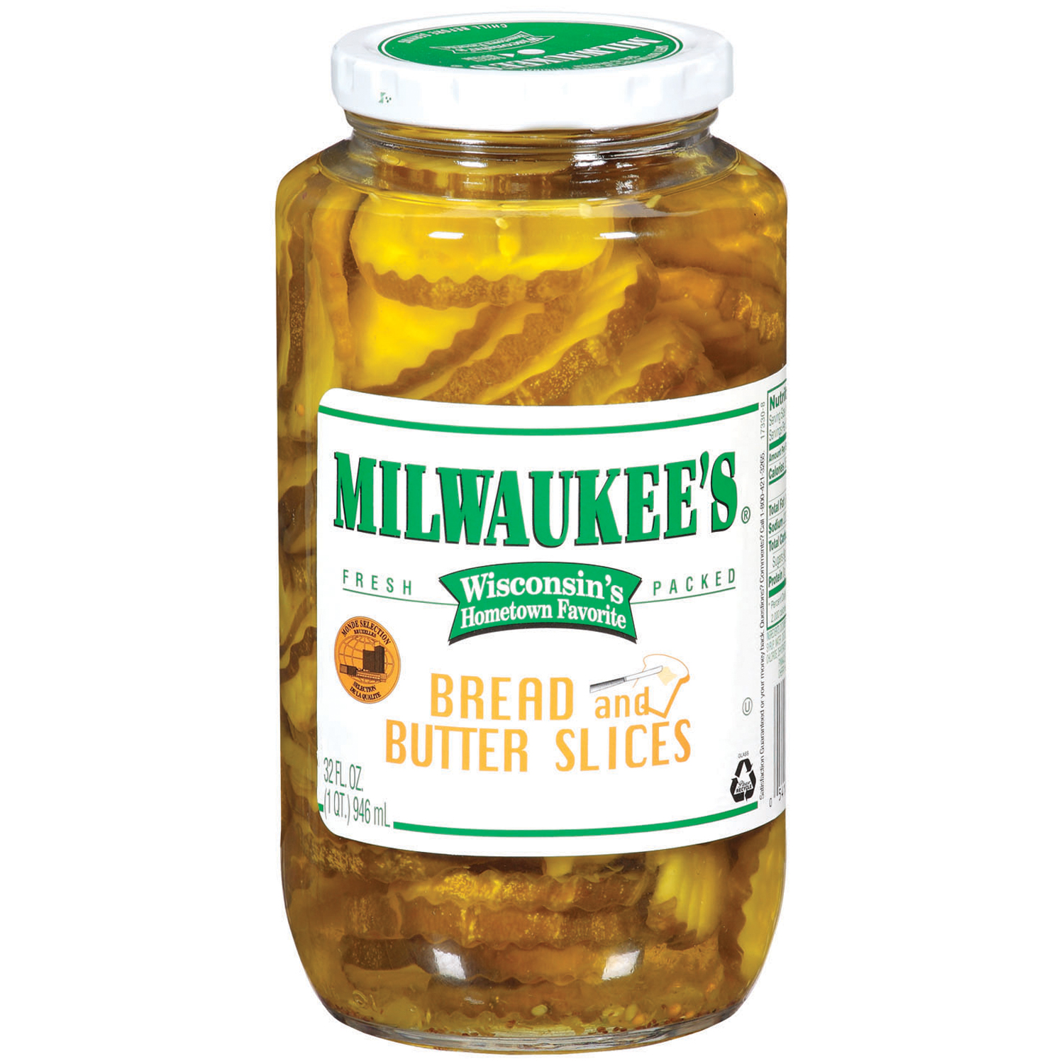 Milwaukee's Bread & Butter Slices Pickles 32 Fl Oz Jar by Generic