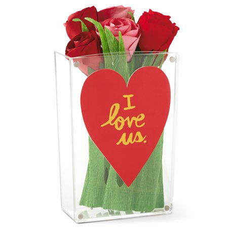 Hallmark valentine flower vase with card or photo holder Hallmark flowers