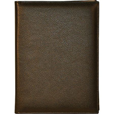 Budd Leather US 383-1 Petite Leather Bound Refillable Journal, Black