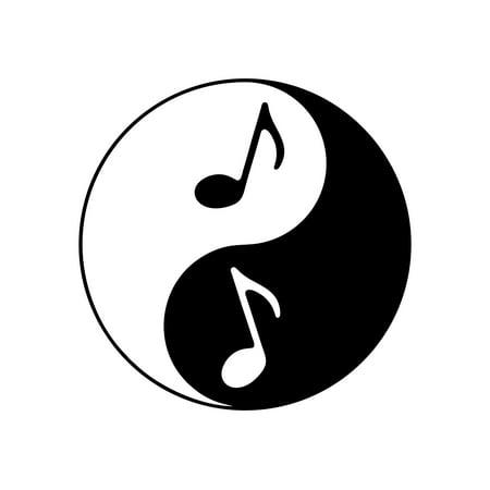 Yin Yang Symbol With Music Notes - 4