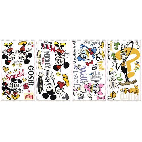 Disney Mickey and Friends Mickey Shorts Peel-and-Stick Wall Decals