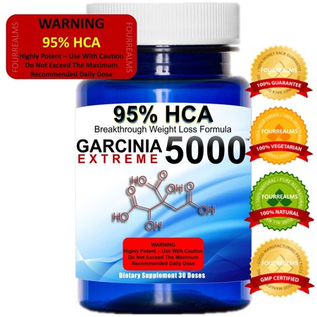 Weight Loss Garcinia Cambogia 95% HCA 5000 (Herbal Youth Garcinia 3000 Extreme 95 Hca Reviews)