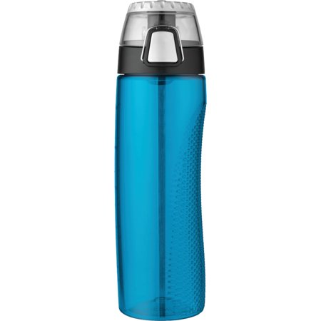 One 24 Ounce Thermos - Thermos HP4100TLTRI6 24-ounce Tritan Hydration Bottle With Meter (Teal)