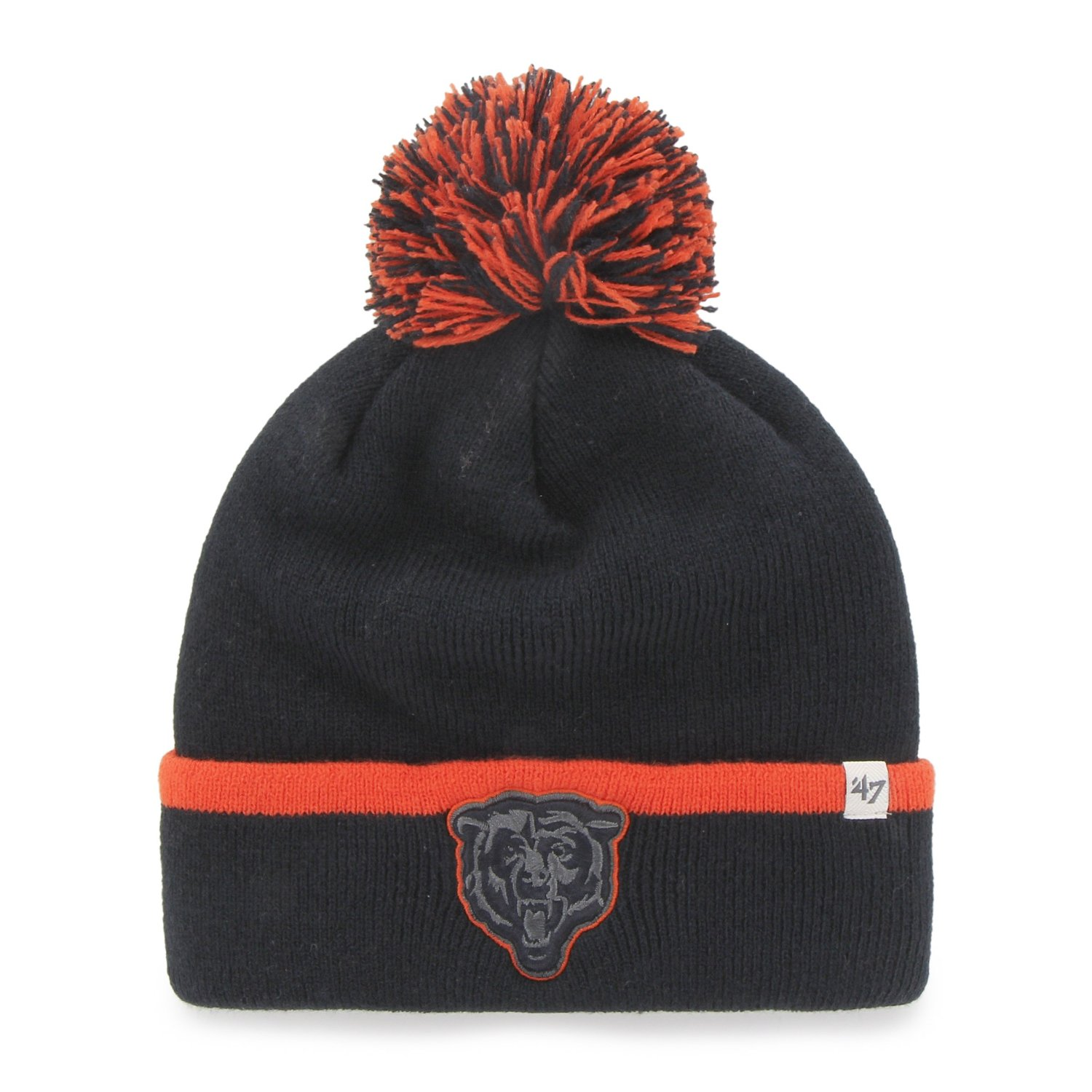 Chicago Bears Navy Baraka Cuffed Knit Hat by 47 Brand