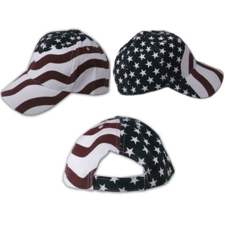 2 Pack American Flag Ball Cap Hat Us USA Patriotic Stars and Stripes Baseball - Patriotic Hat