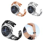 Compatible for Galaxy Watch (46mm) Bands, 22mm D-Link Design Stainless Steel Metal Band Link Bracelet with Rhinestone Diamond Bling Replacement for Samsung Galaxy Watch 46mm/Gear S3