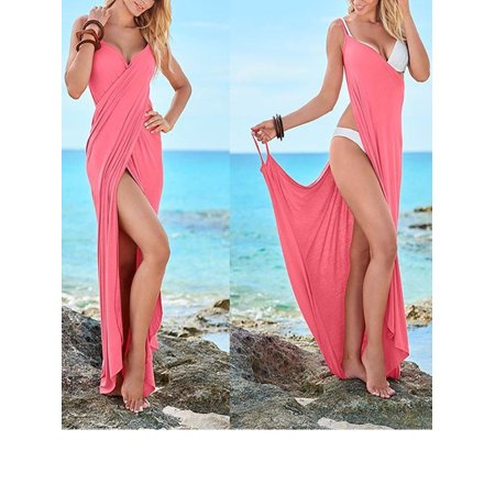 Plus Size Women\'s Spaghetti Strap Beach Dresses Cover Up Bikini ...