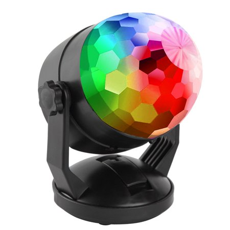Sound Activated Party Lights with Remote Control Dj Lighting, RBG Disco Ball Light, Strobe Lamp 7 Modes Stage Par Light for Home Room Dance Parties Bar Karaoke Xmas Wedding Show Club (Home Strobe Light)