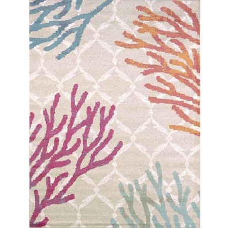 Standard Tropical Rug (United Weavers Seaside Coral Tropical Woven Olefin Area)