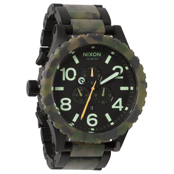 Nixon A083-1428 51-30 Chrono Matte Black/Camo Watch
