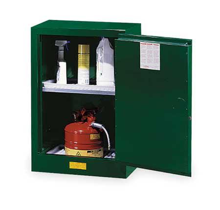 Cabinet, Pesticide, Green, 12 Gallon JUSTRITE 891204